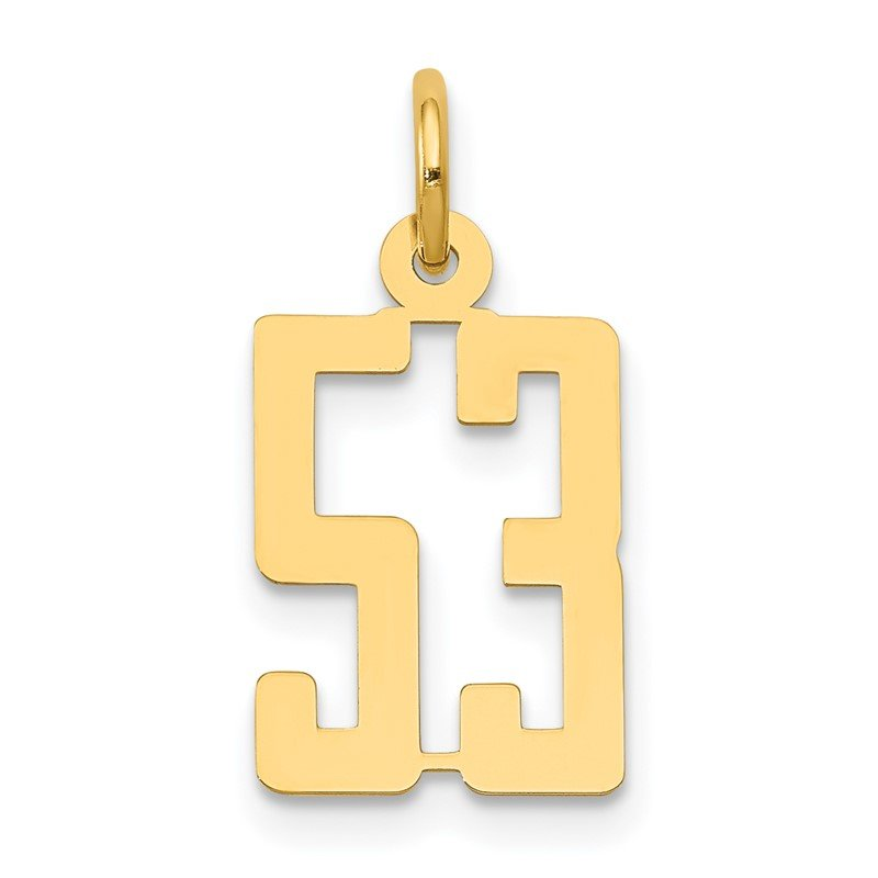 Quality Gold 14k Small Polished Elongated 53 Charm