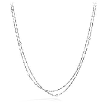 0.1 ctw. HOF Double Chain Bezel Necklace