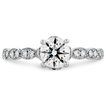 0.15 ctw. Lorelei Floral Engagement Ring-Diamond Band