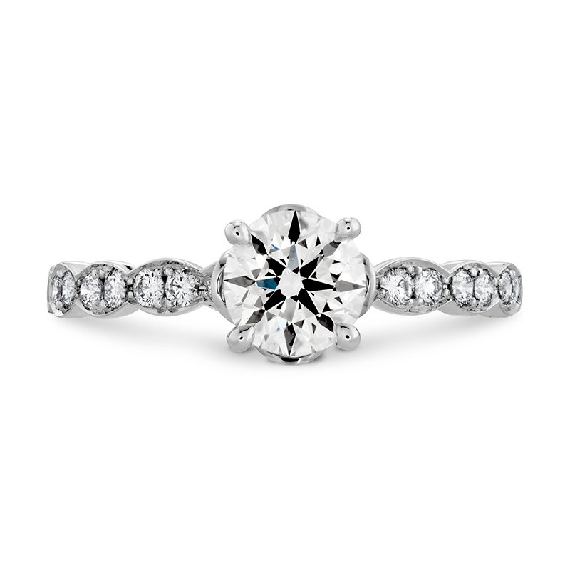 Hearts on Fire 0.15 ctw. Lorelei Floral Engagement Ring-Diamond Band