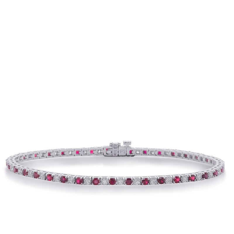 S. Kashi  & Sons White Gold Ruby & Diamond Bracelet