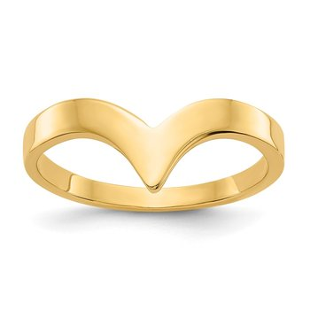 14k Polished Chevron Ring