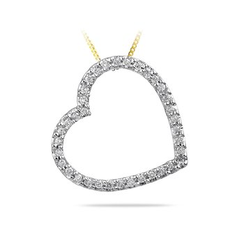 14K YG Diamond Fashion Heart Shape Pendant