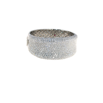 18KT GOLD LARGE BANGLE WITH DIAMONDS