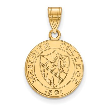 Gold-Plated Sterling Silver Meredith College NCAA Pendant