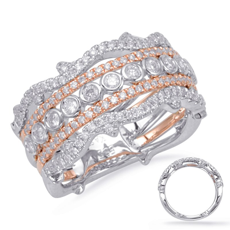 S. Kashi  & Sons Rose & White Gold Matching Band