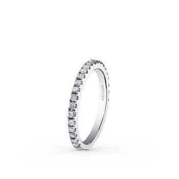 Stackable Elegant Modern Diamond Wedding Band