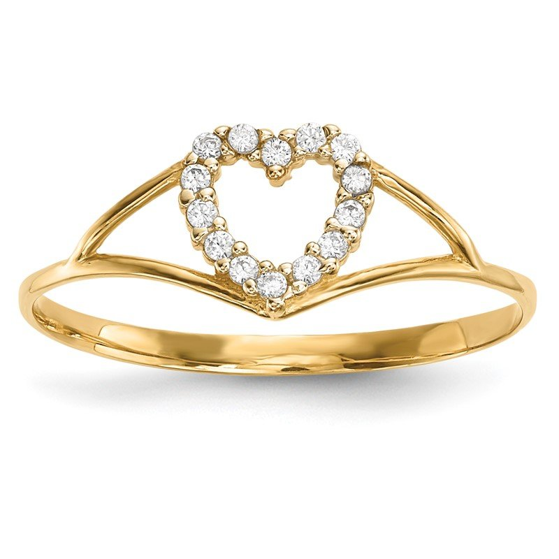 Quality Gold 14k CZ Heart Ring