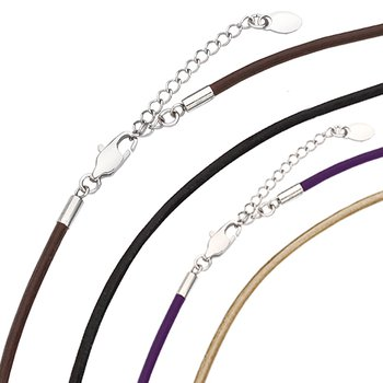 "Kameleon Kameleon Black Leather 16"" Necklace"
