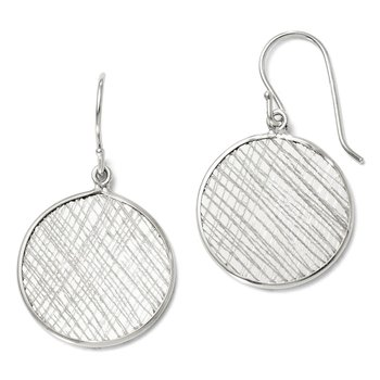 Leslie's Sterling Silver Polished & Textured Dangle Earrings