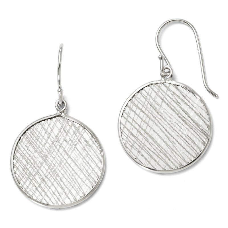 Leslie's Leslie's Sterling Silver Polished & Textured Dangle Earrings