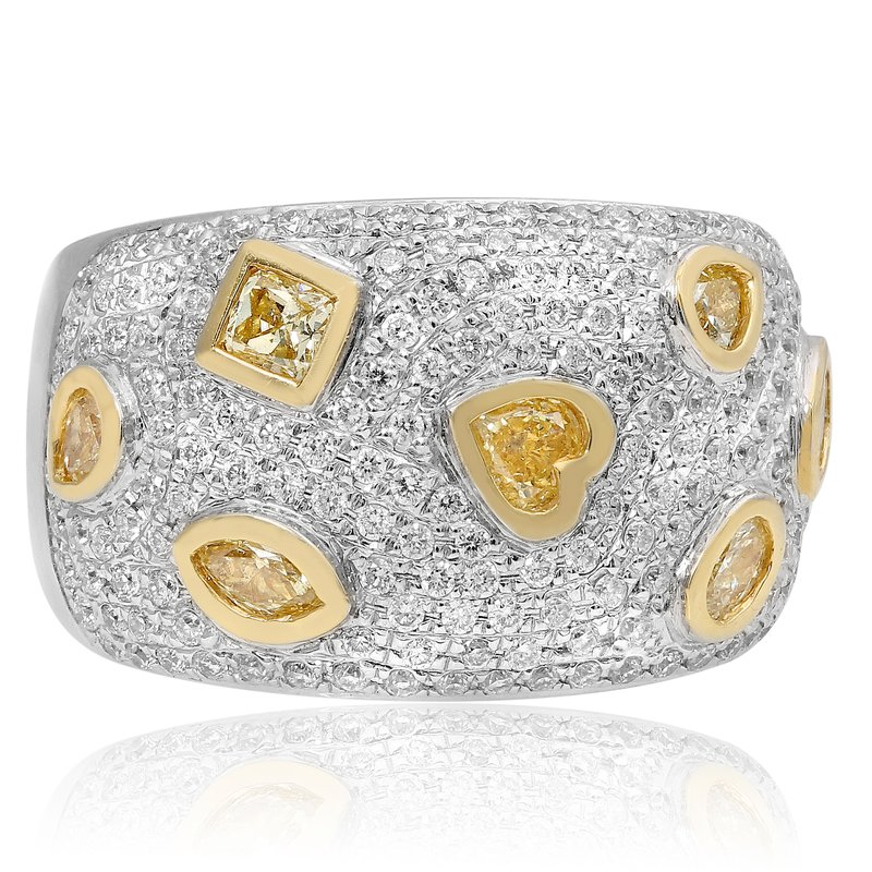 Roman & Jules Two-Tone Wide Diamond Band