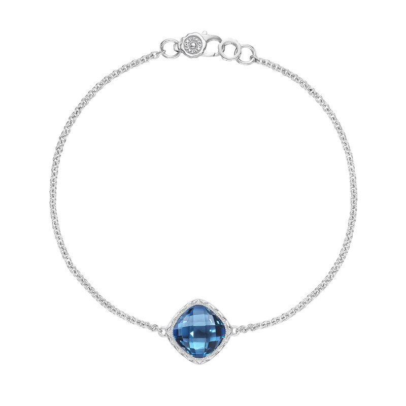 Tacori Fashion Solitaire Cushion Gem Bracelet with London Blue Topaz