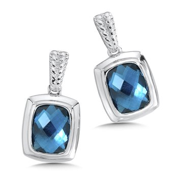 Sterling Silver London Blue Topaz Essentials Post Earrings