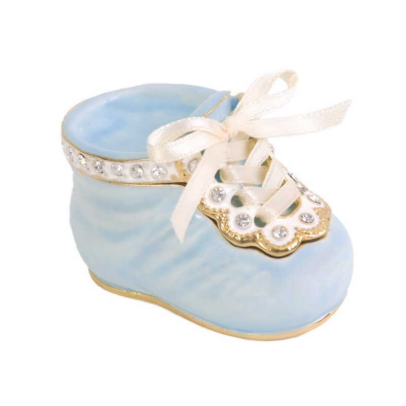 "Luxury Giftware by Jere ""It's a Boy"" Blue Baby Shoe"