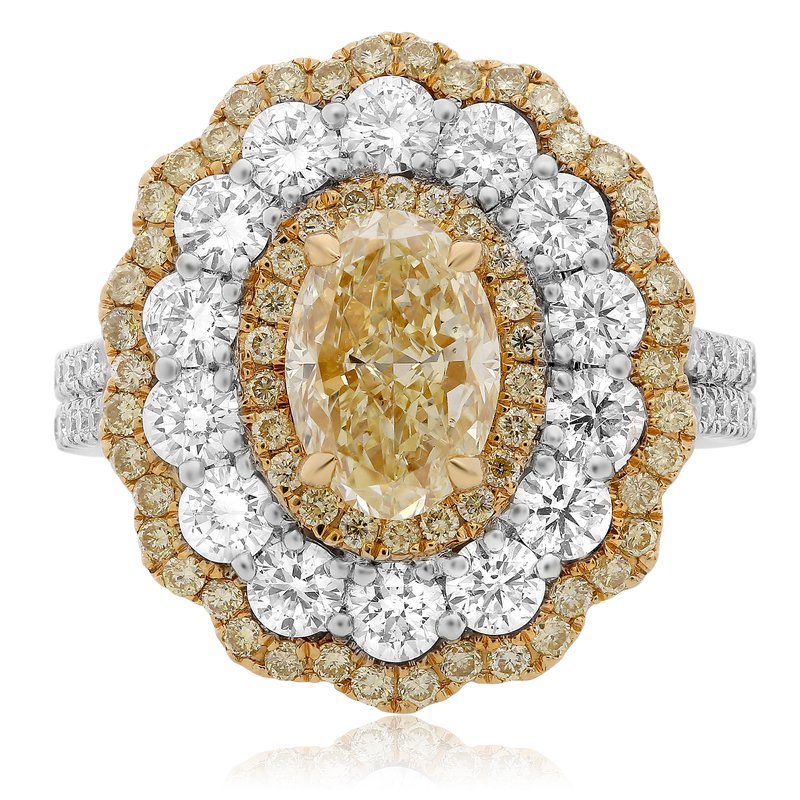 Roman & Jules Tri-Colored Diamond Petal Ring