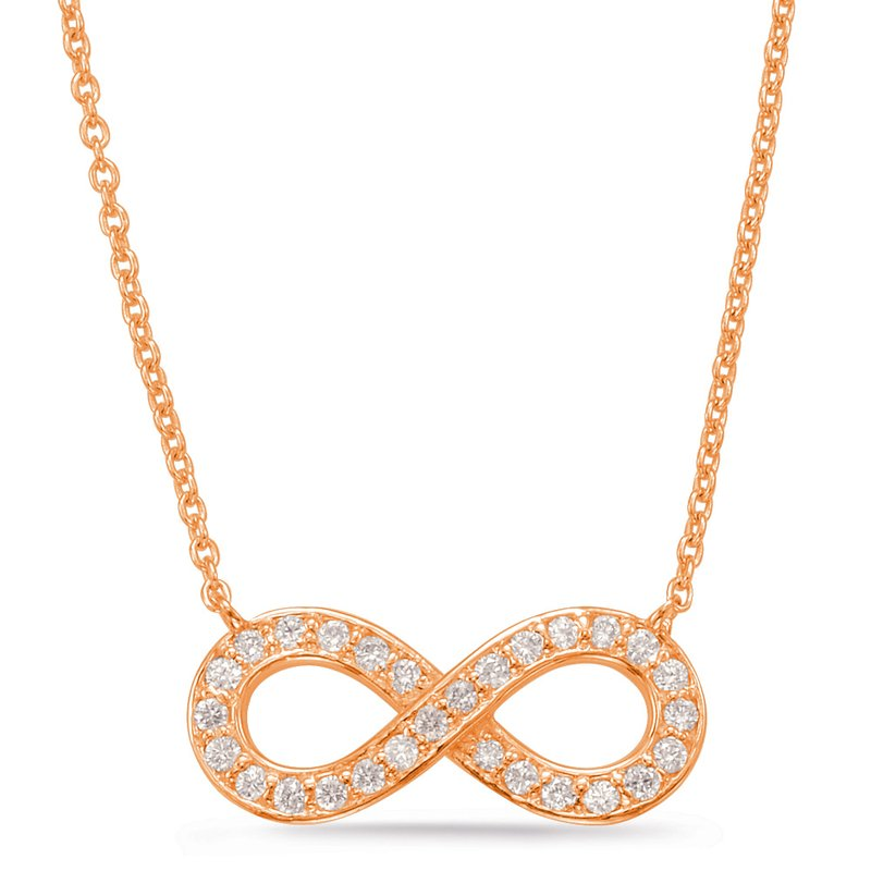 S. Kashi  & Sons Rose Gold Infinity Sign Necklace