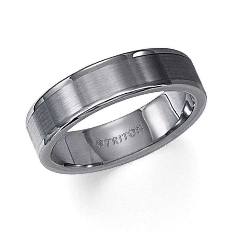 Triton Tungsten Mens Wedding Band Glennpeter Jewelers