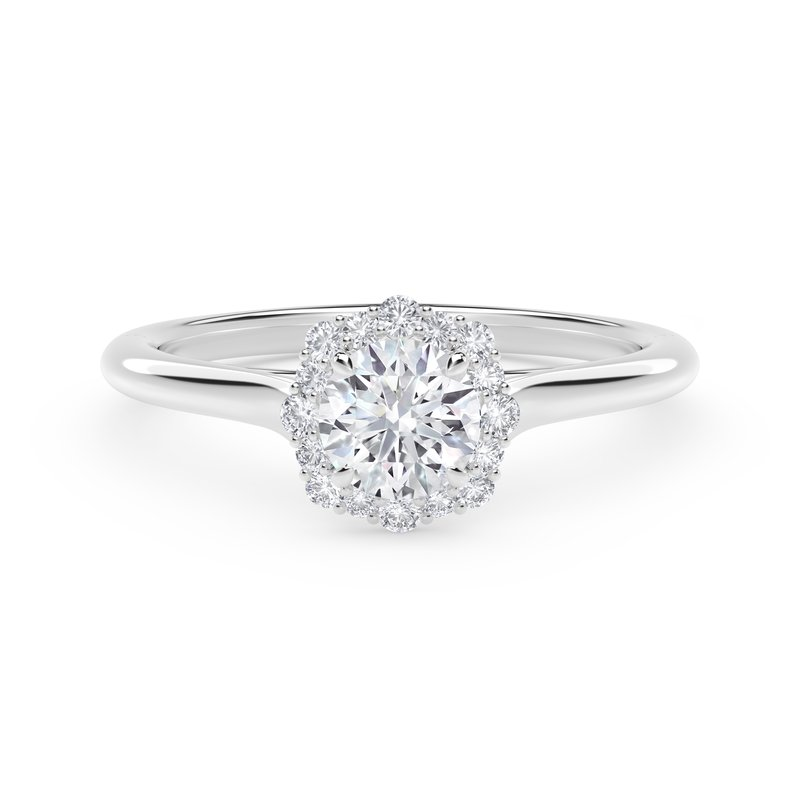 Forevermark Engagement and Commitment Center of My Universe® Floral Halo Engagement Ring