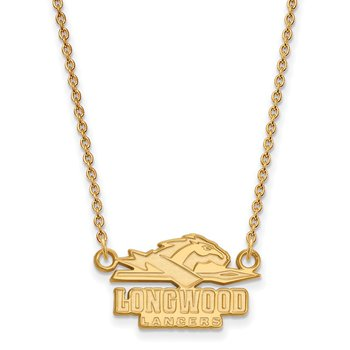 Gold Longwood University NCAA Necklace