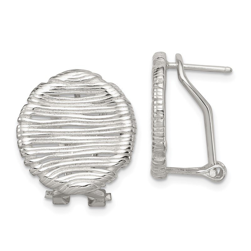 JC Sipe Essentials Sterling Silver Omega Back Earrings