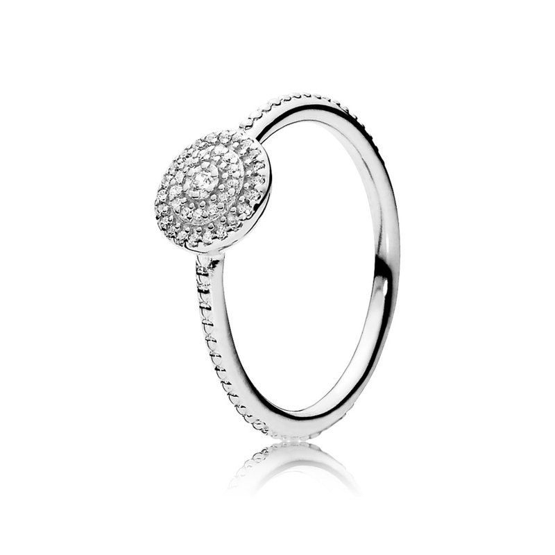 PANDORA Radiant Elegance Ring, Clear Cz
