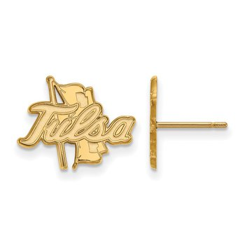 Gold-Plated Sterling Silver University of Tulsa NCAA Earrings