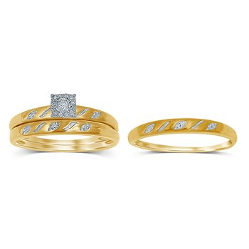10K 0.09Ct Diamond Trio Set