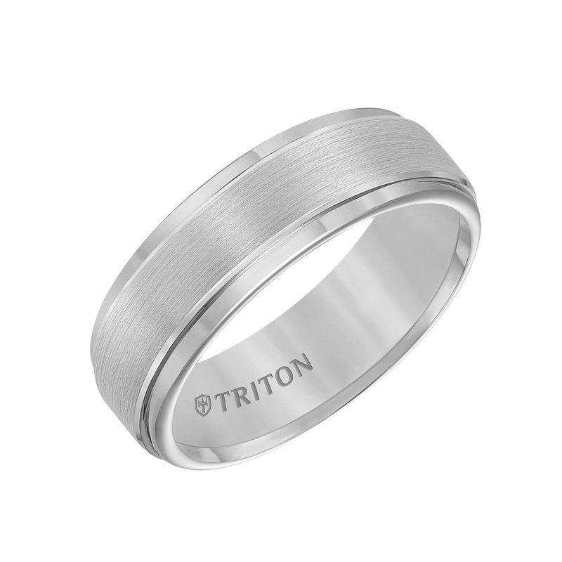 Triton Tungsten Mens Wedding Band