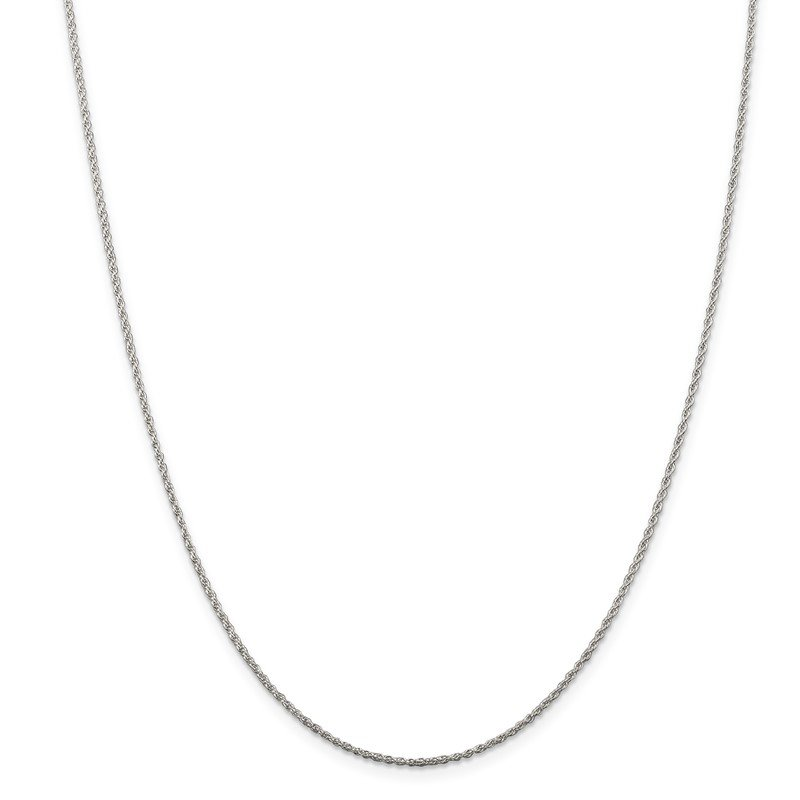 Quality Gold Sterling Silver Rhodium-plated 1.3mm Loose Rope Chain