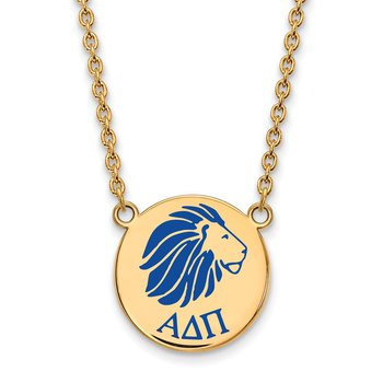Gold-Plated Sterling Silver Alpha Delta Pi Greek Life Necklace