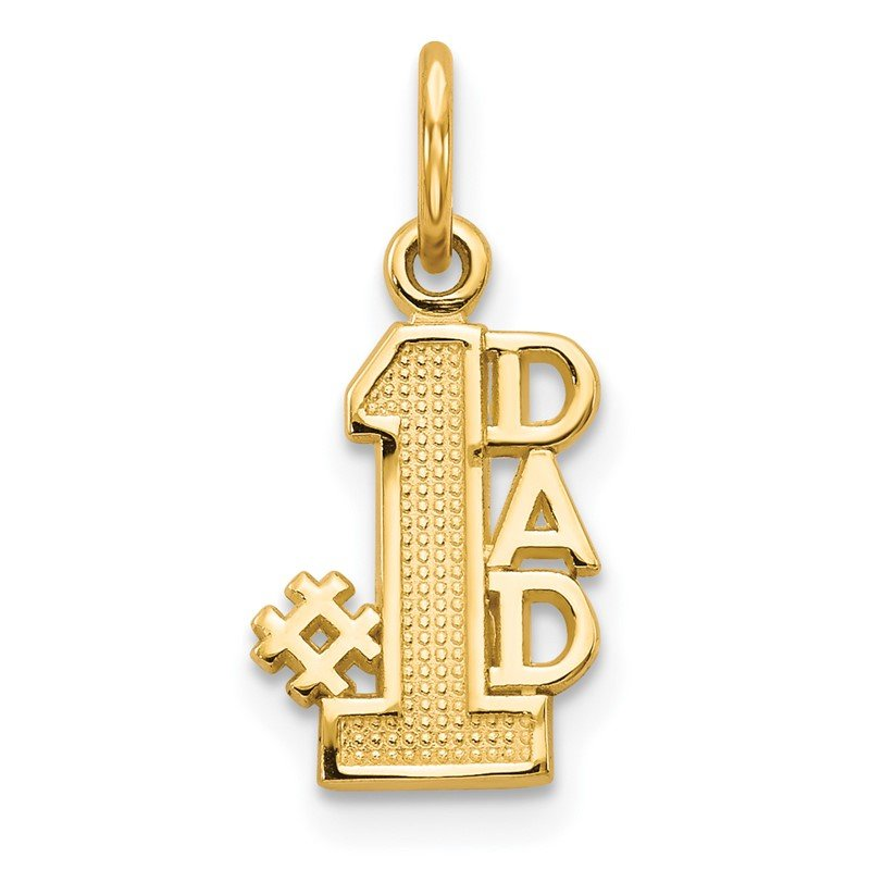 Quality Gold 14k #1 DAD Charm