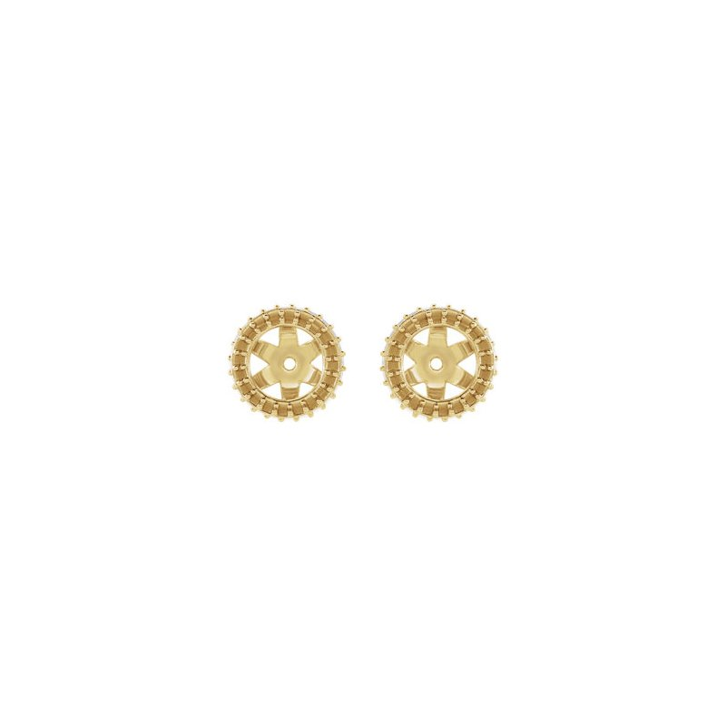 18K Yellow 5.5 mm Round Earring Jacket Mounting