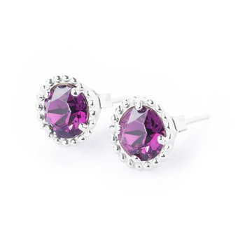 925‰ sterling silver and amethyst Swarovski® Elements.