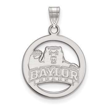 Sterling Silver Baylor University NCAA Pendant