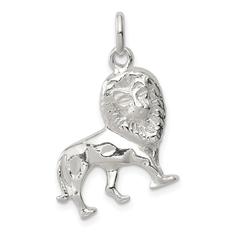 Quality Gold Sterling Silver Lion Charm