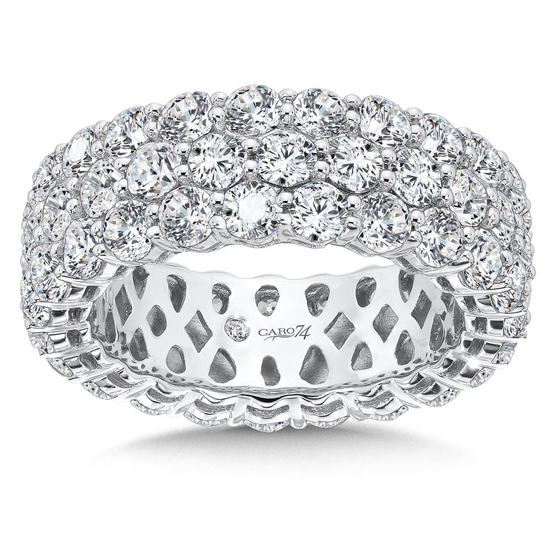 Caro74 CARO 74 Eternity Band  in 14K White Gold (Size 6.5)