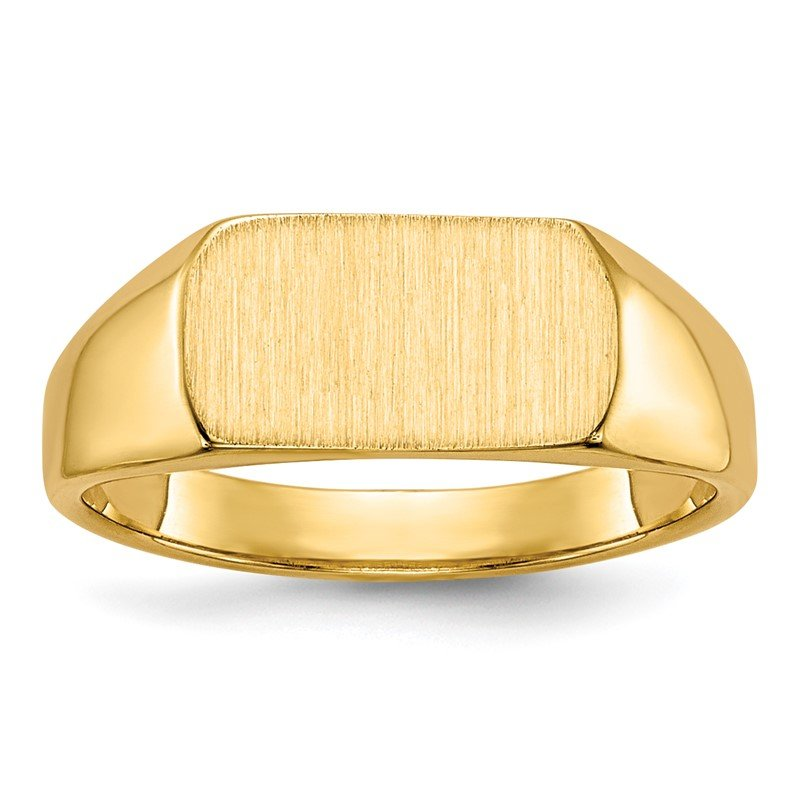 Quality Gold 14k 10x6mm Open Back Signet Ring