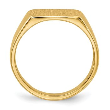 14k Signet Ring 10mmx6mm Open Back