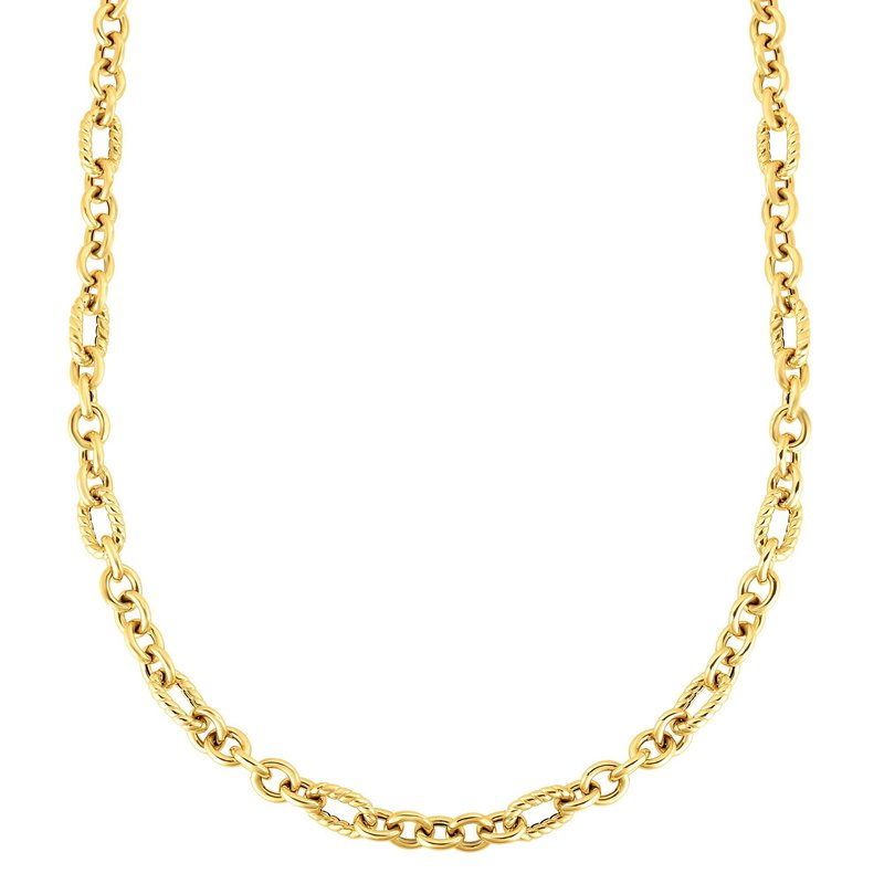 Royal Chain 14K Gold Italian Cable Oval Link Necklace