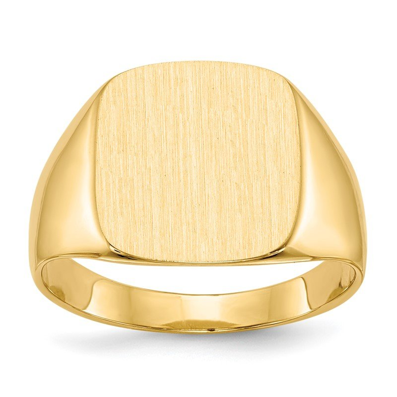 Quality Gold 14k 15.0x13.5mm Closed Back Men's Signet Ring