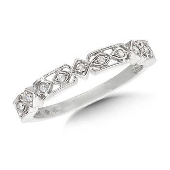 Channel set Diamond Hoops in 14k White Gold (1/2 ct. tw.) JK/I1