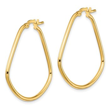 14k Polished Fancy Triangle Hoop Earrings