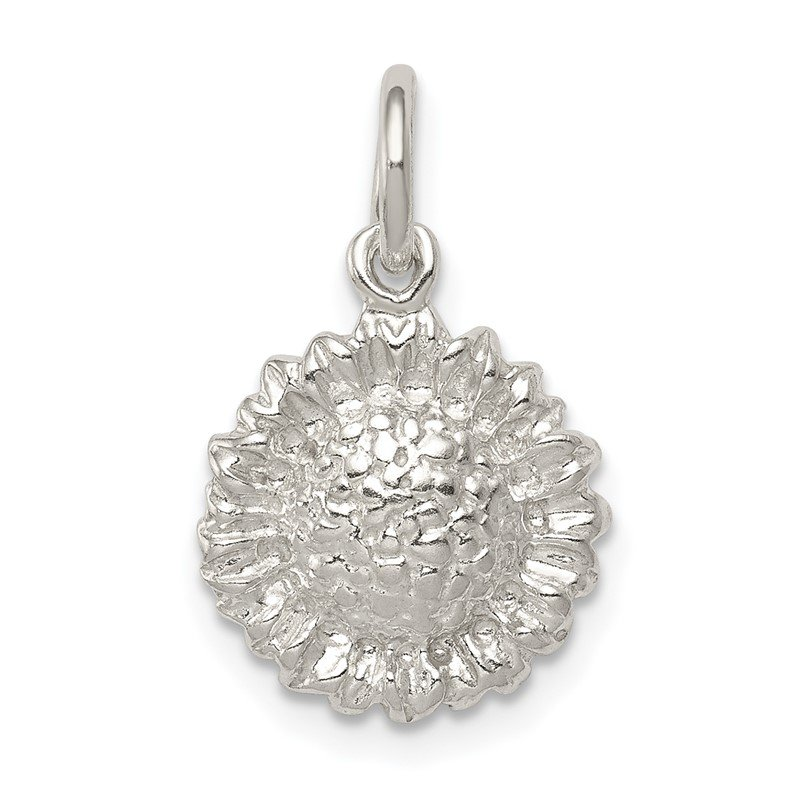 Quality Gold Sterling Silver Sunflower Charm