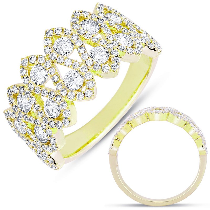 Briana Yellow Gold Fashion Ring