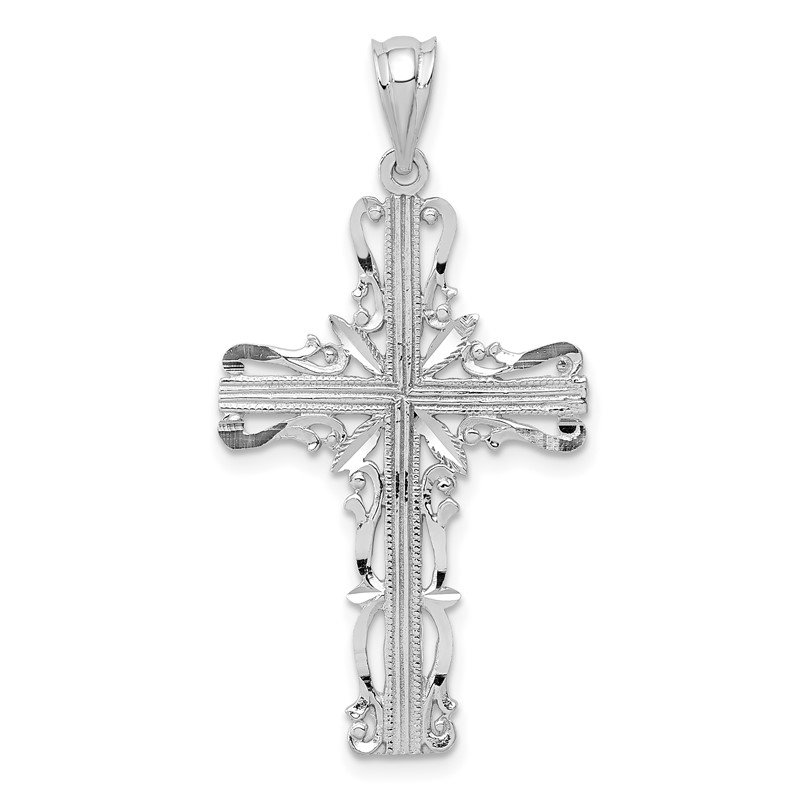 J.F. Kruse Signature Collection 14k White Gold Latin Cross Pendant