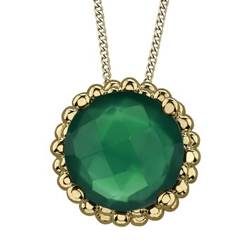 Green Onyx Solitaire Pendant