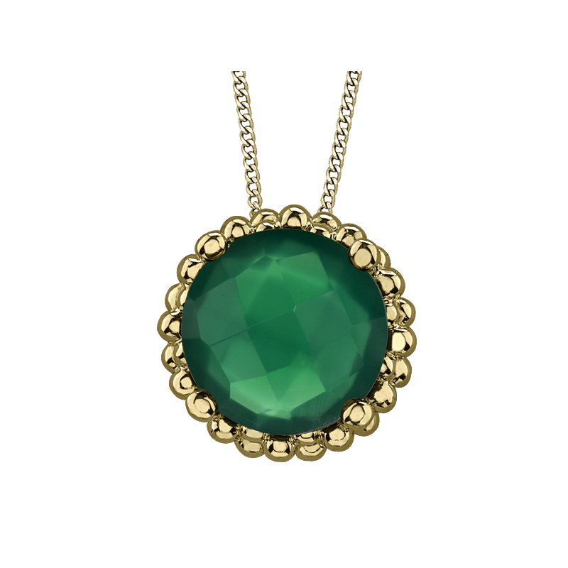 Lasting Treasures™ Green Onyx Solitaire Pendant