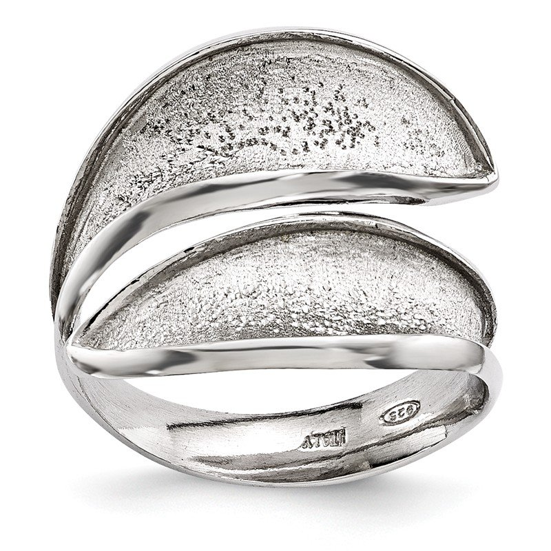Leslie's Leslie's Sterling Silver Radiant Essence Adjustable Textured Ring