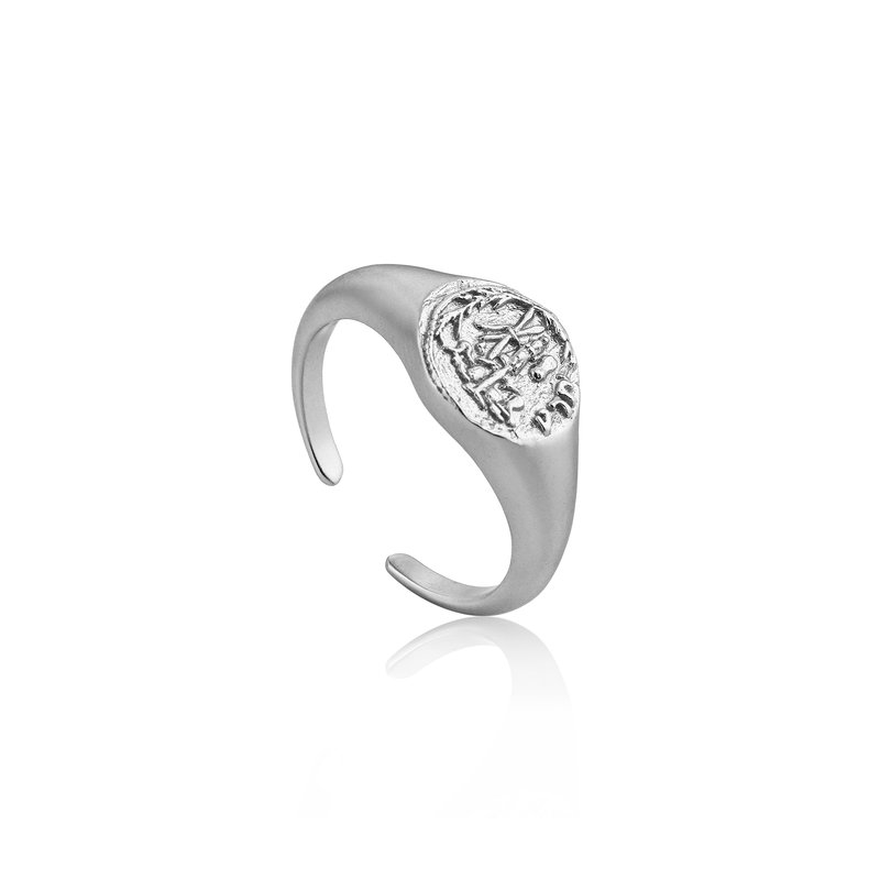 Ania Haie Emblem Adjustable Signet Ring
